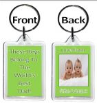 World's Best Keyring...Mum, Grandad, Cousin, Auntie, Teacher etc ANY TITLE - 8 colours available